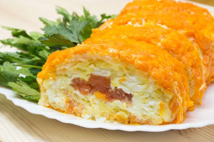Такой вкуснятины вы еще ее пробовали. Салат-закуска «Царский Рулет»