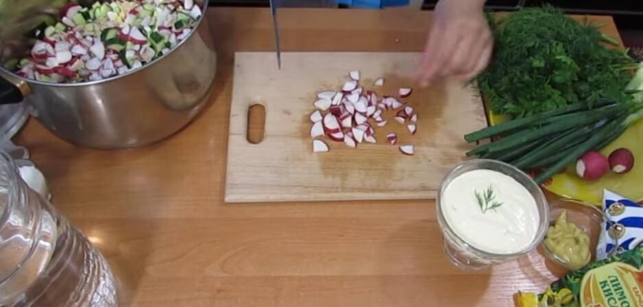 Окрошка на кефире. Очень вкусные классические рецепты приготовления