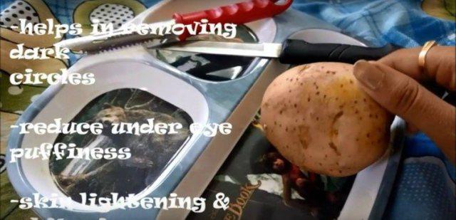 Секрет в том, что Вы должны растирать Картофель на лице