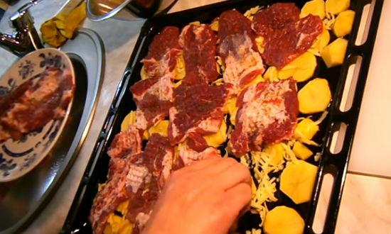 Мясо по-французски в духовке. Рецепт приготовления мяса с картошкой