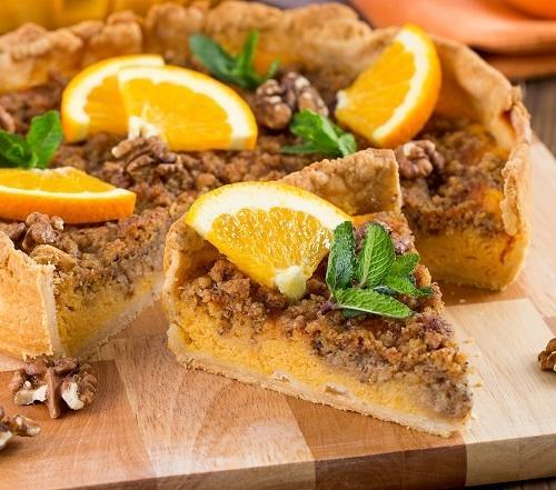 Тыквенный пирог с апельсином - необычно вкусный, сладкий и полезный