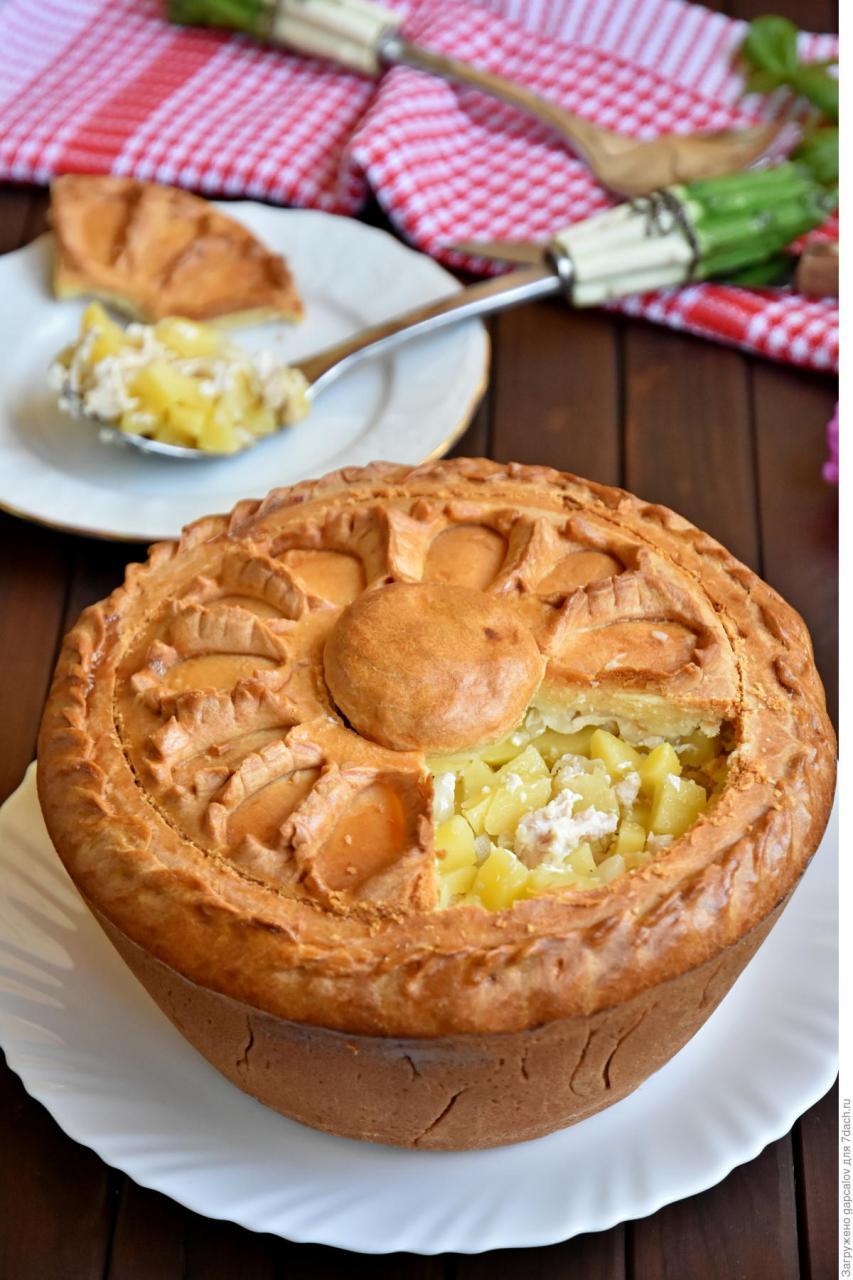 Татарский пирог Зур бэлиш, одно из самых вкусных юлюд в татарской кухне!