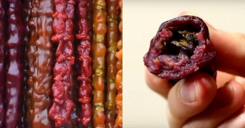 «Грузинский сникерс» из моего детства. Как приготовить чурчхелу с орехами в домашних условиях. Худеющим сладкоежкам посвящается.