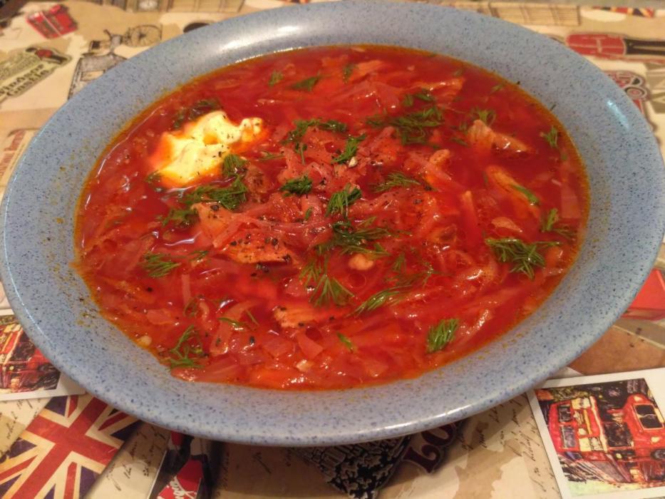 Борщ из курицы – 5 пошаговых рецептов приготовления