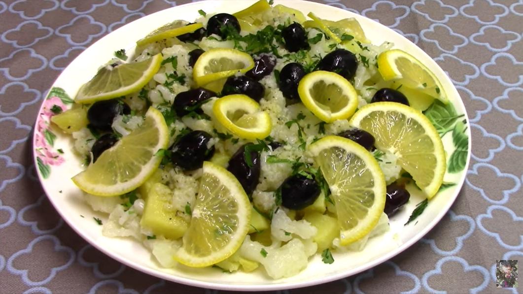 Нет никакого майонеза в этом в салате: цветная капуста с картофелем — полезный и очень вкусный гарнир для любого мяса