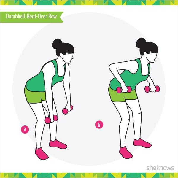 5 упражнений для женщин, формируем спину